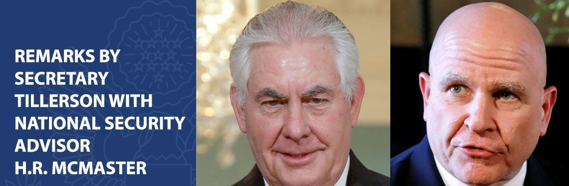 Image result for photos of tillerson and hr mcmaster