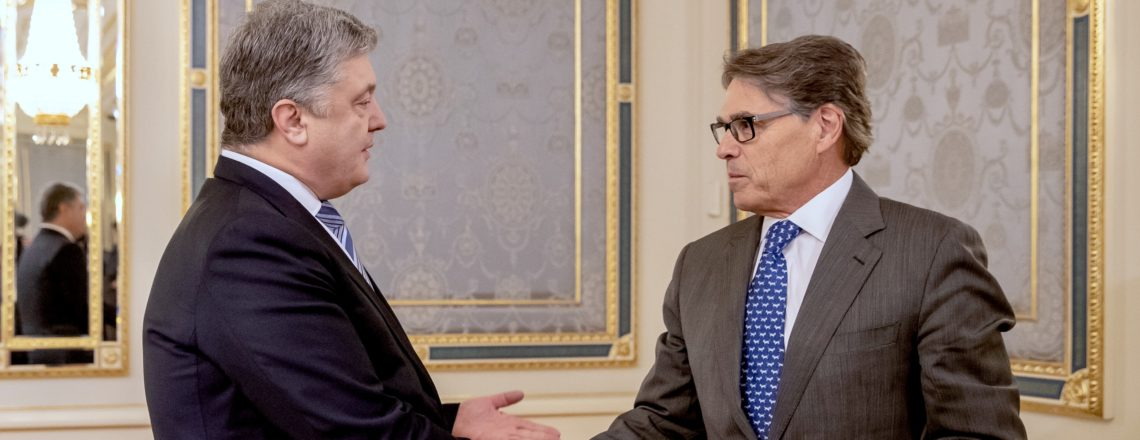 U.S. Secretary of Energy Perry and President Poroshenko launch Strategic Energy Dialogue