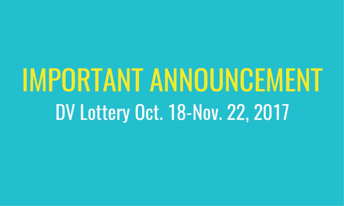 Diversity Visa Lottery Dv 2019 Green Card Lottery Usa ...